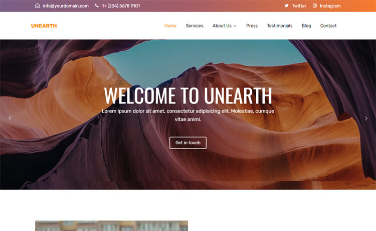 Free Bootstrap 4 HTML5 Sophisticated Business Website Template
