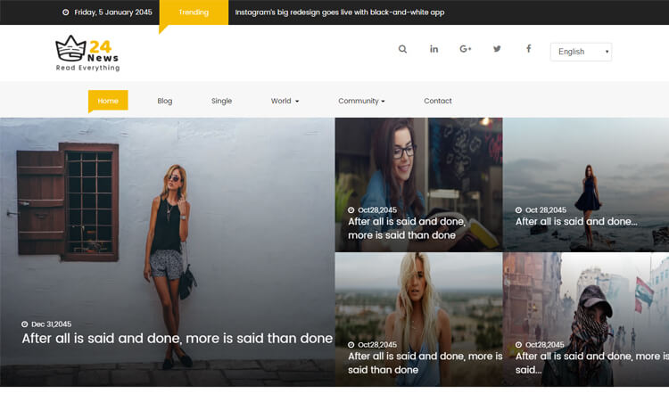 Free Bootstrap 4 HTML5 News Website Template
