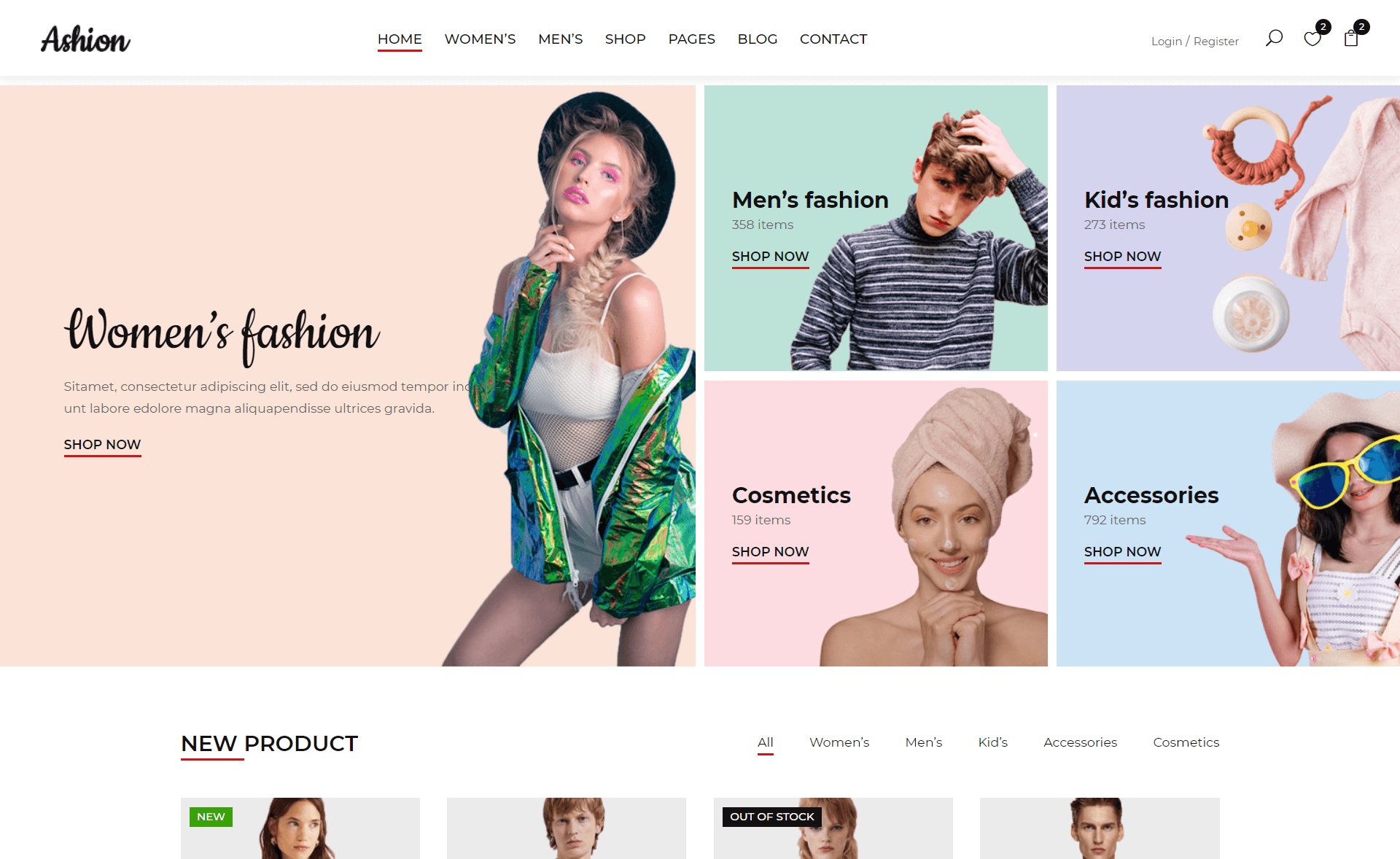 Free Responsive Bootstrap 4 HTML5 eCommerce Website Template