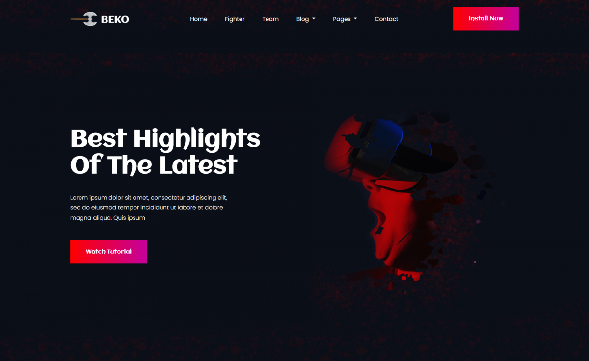 Free Responsive Bootstrap 4 HTML5 Gaming Website Template