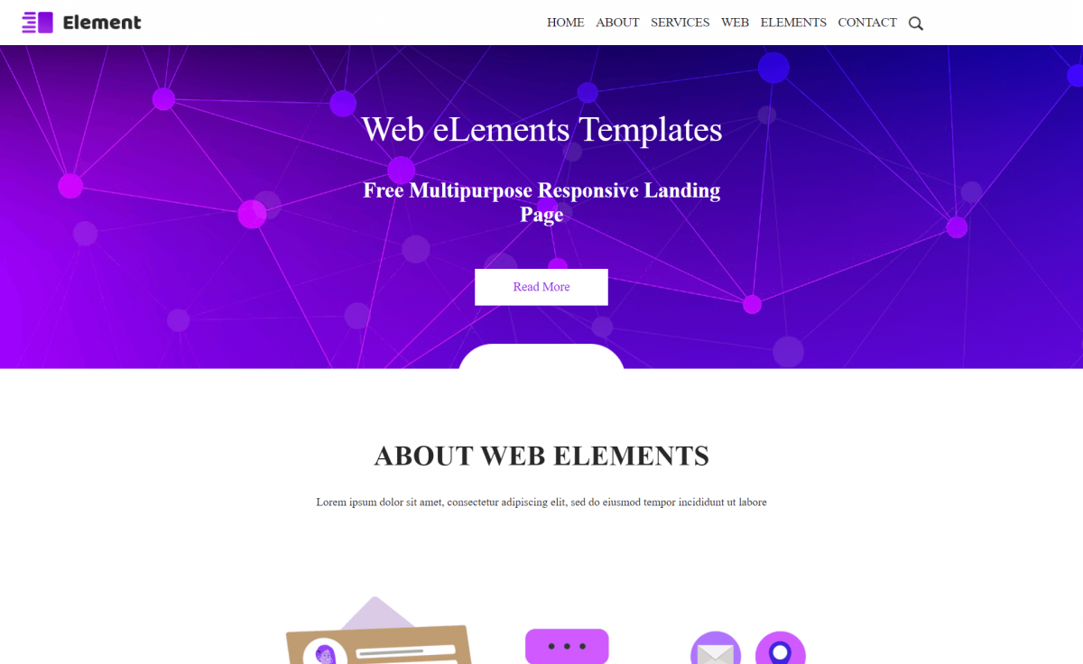 Free Responsive Bootstrap 4 HTML5 Landing Page Template