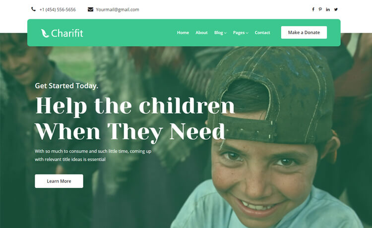 Free Bootstrap 4 HTML5 Donation Website Template