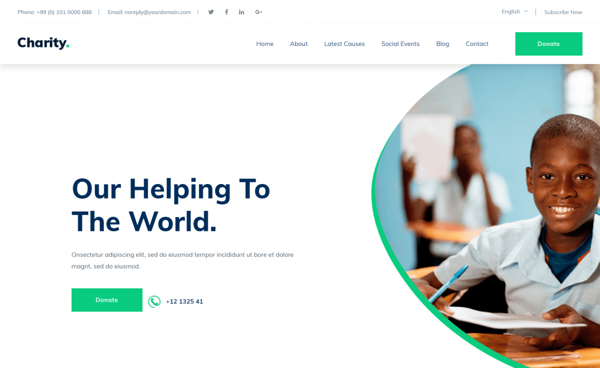 Free Responsive Bootstrap 4 HTML5 Charity Website Template