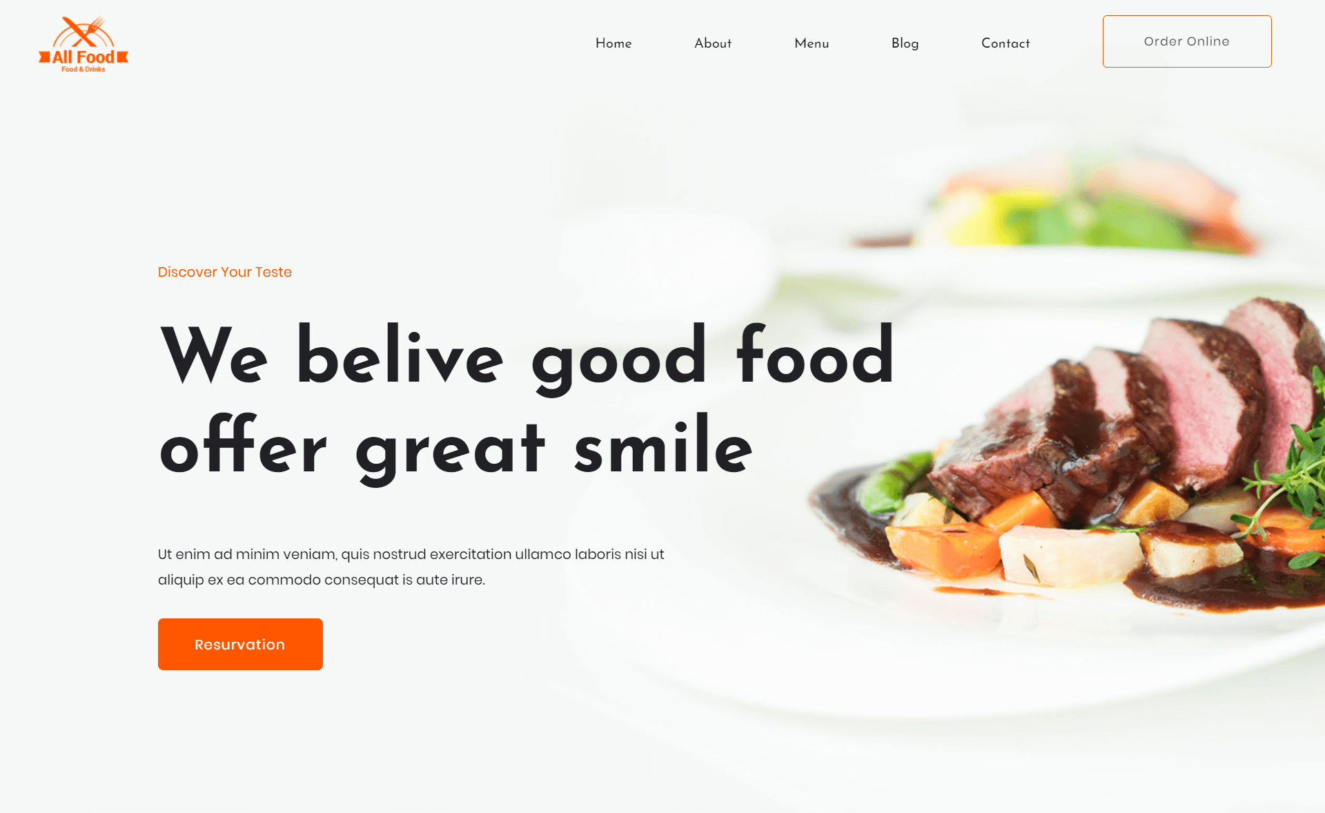 Free Responsive Bootstrap 4 HTML5 Restaurant website Template