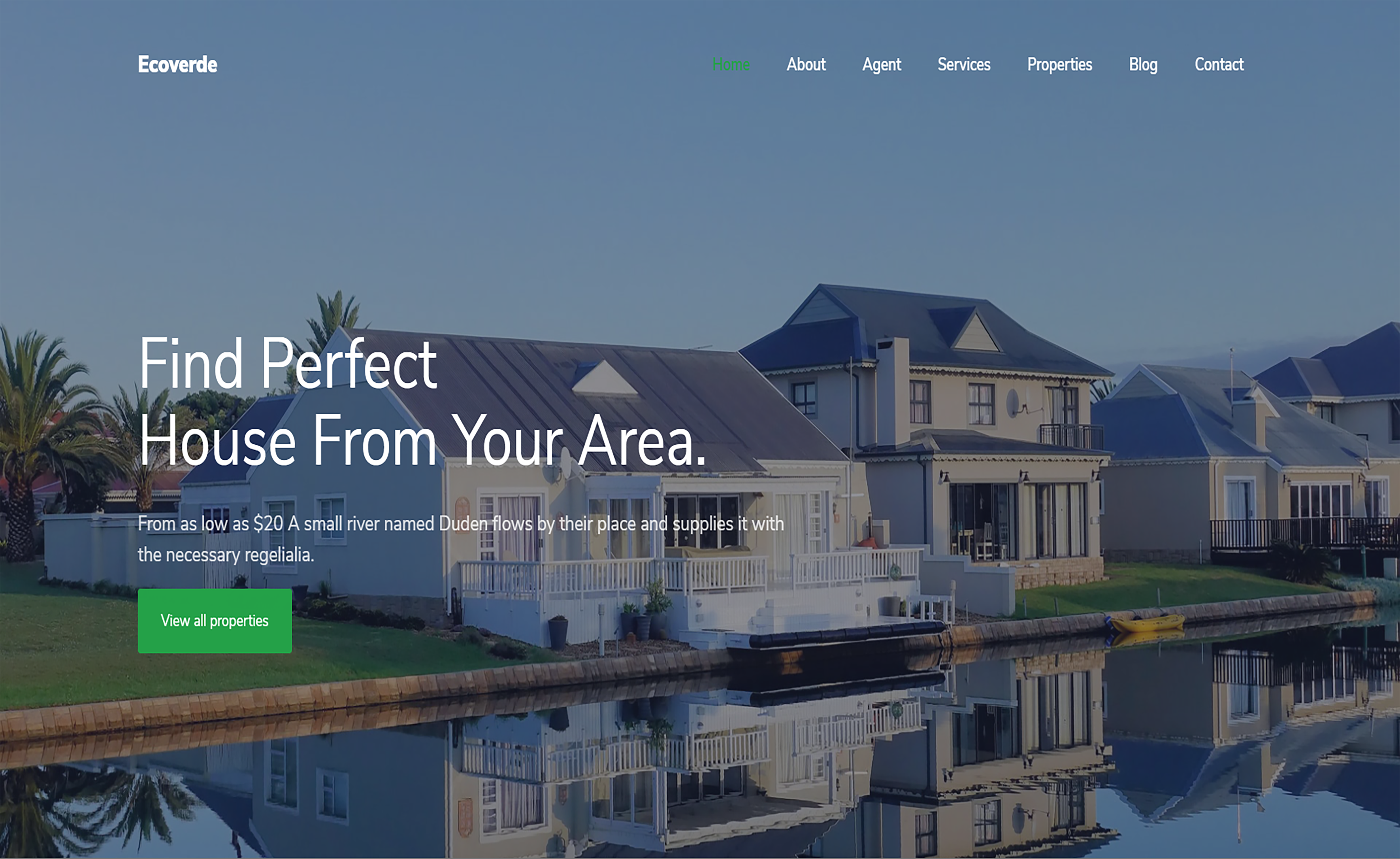 Free Bootstrap 4 HTML5 Housing Website Template