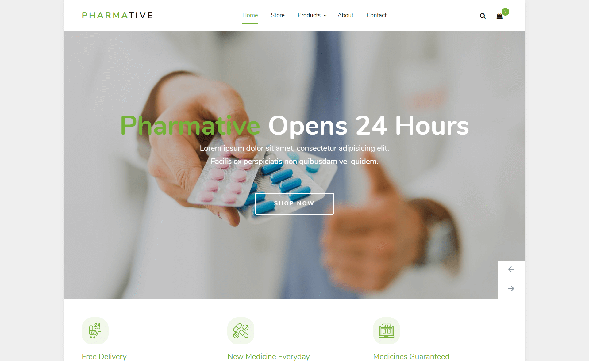 Free Bootstrap 4 HTML5 Pharmacy Website Template