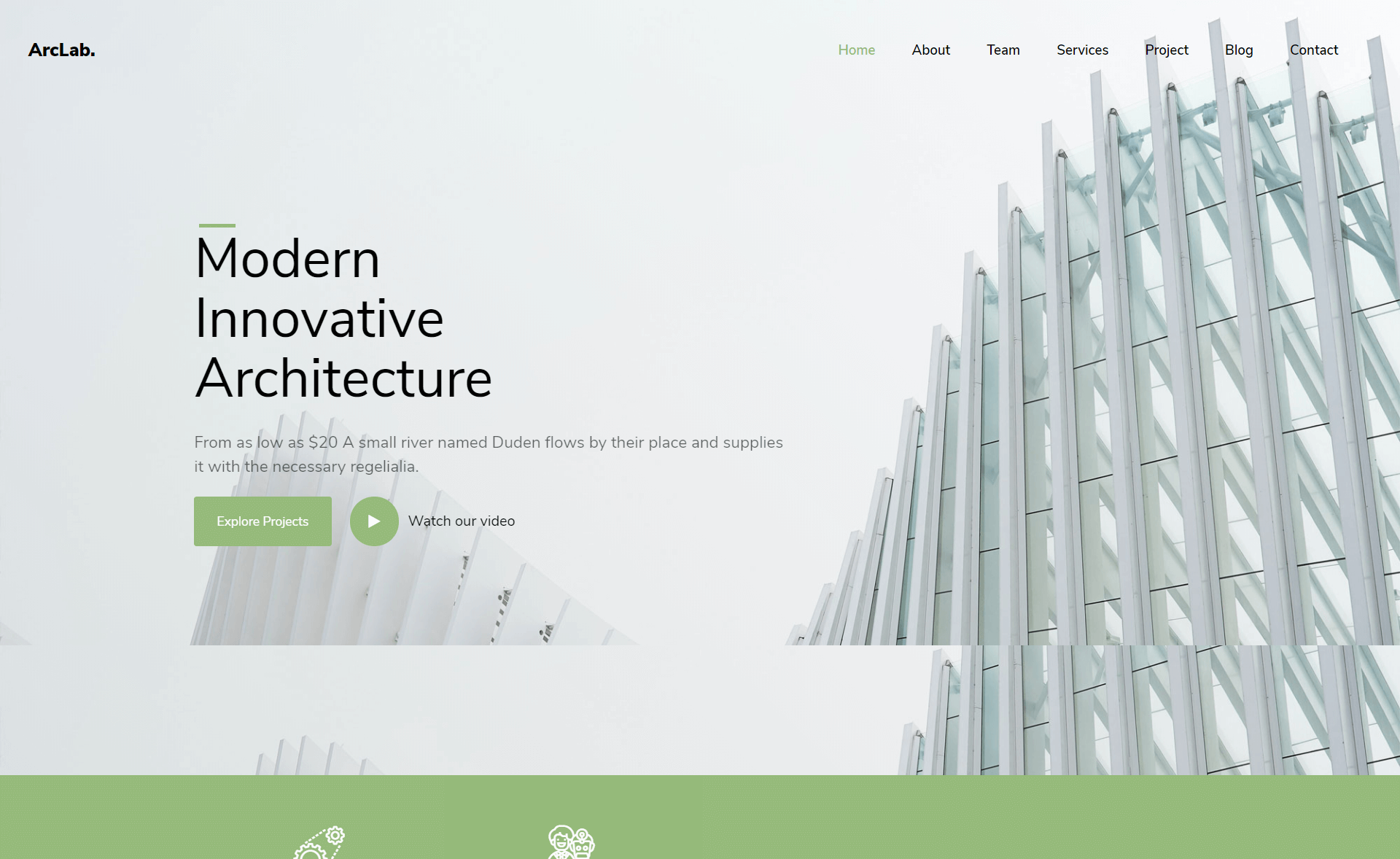 Free Responsive Bootstrap 4 HTML5 Architectural Website Template