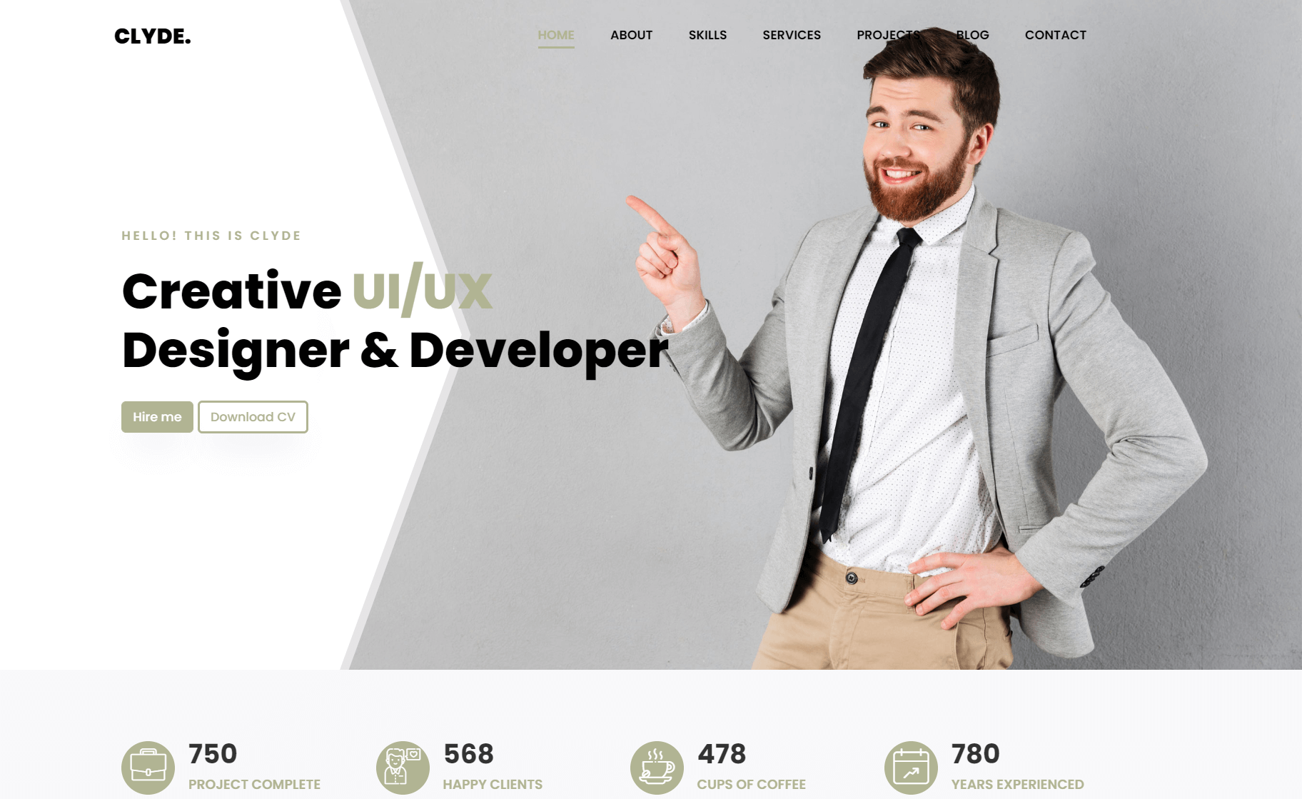 Free Bootstrap 4 HTML5 Responsive Portfolio Website Template