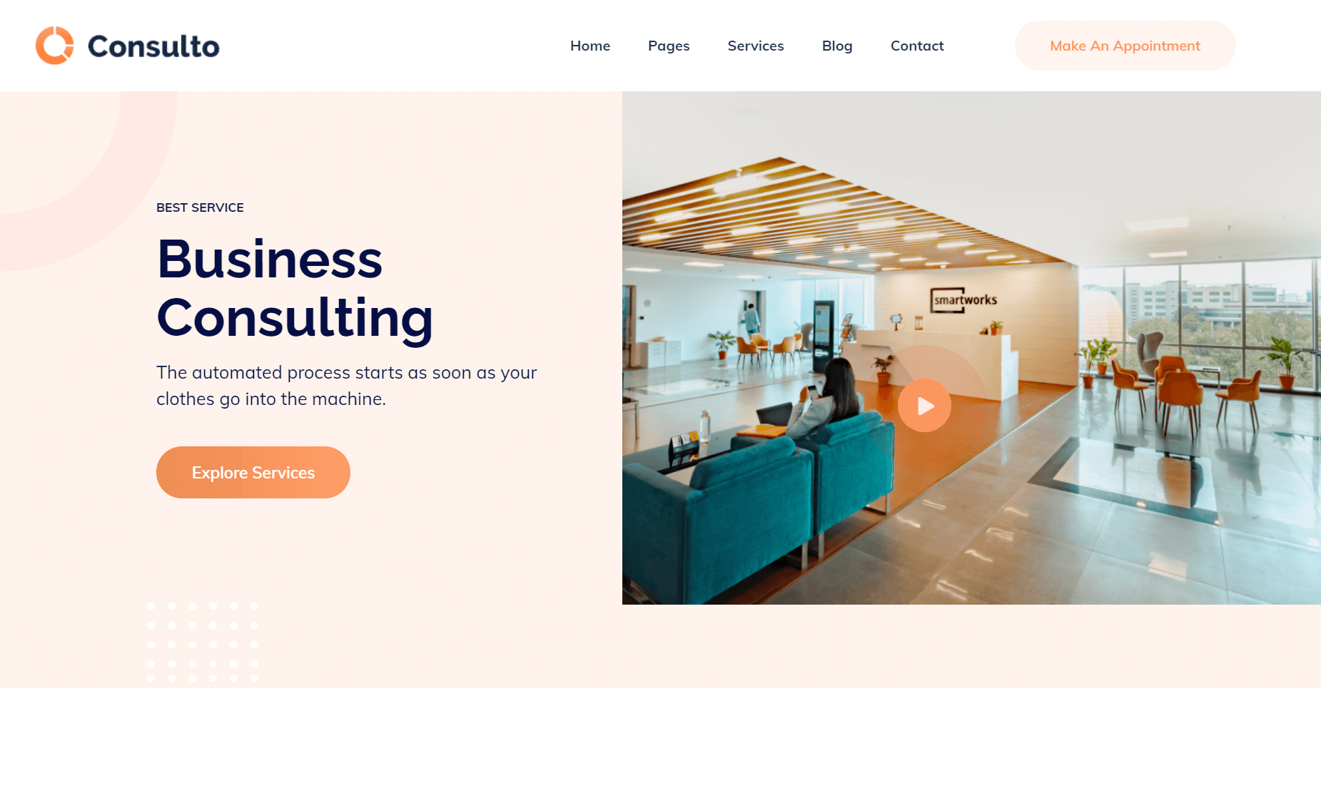 Free Bootstrap 4 HTML5 Business Consulting Website Template