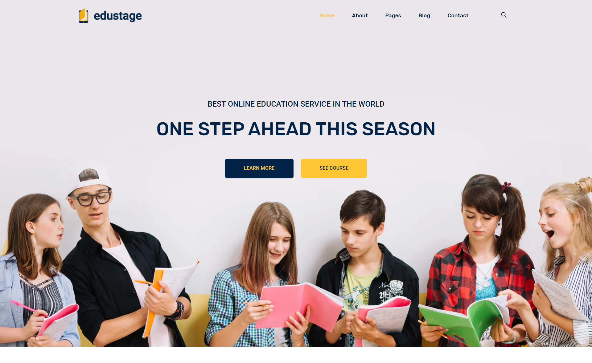 Free Responsive Bootstrap 4 HTML 5 Educational Website Template