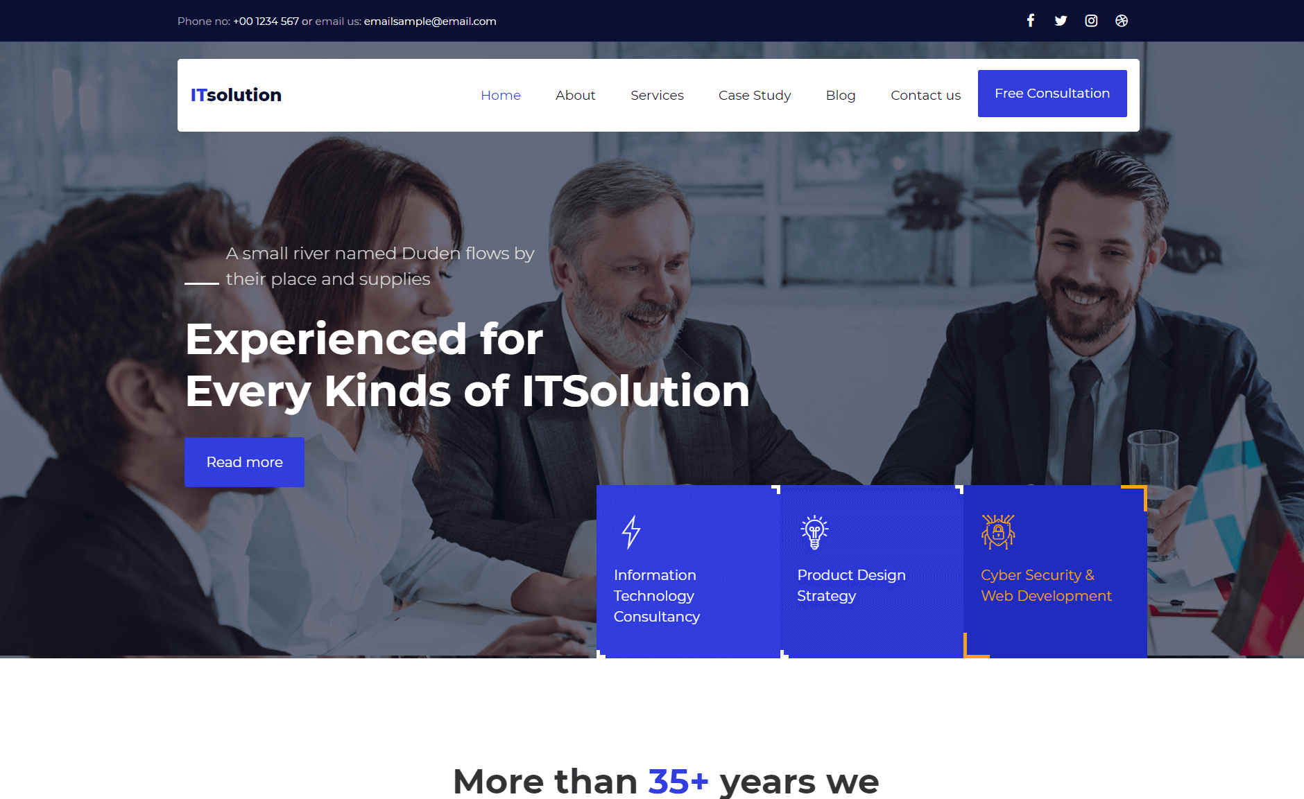 Free Bootstrap 4 HTML5 Digital Agency Website Template