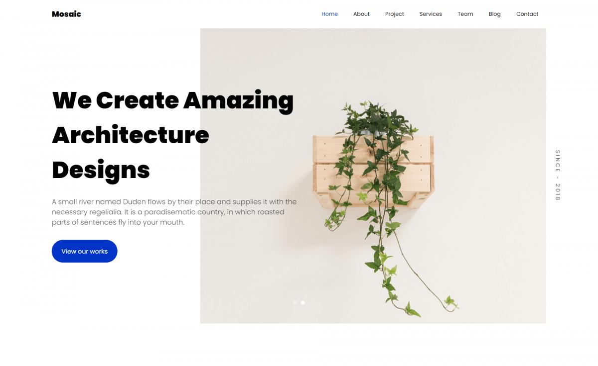 Free Bootstrap 4 HTML5 Architectural Portfolio Website Template