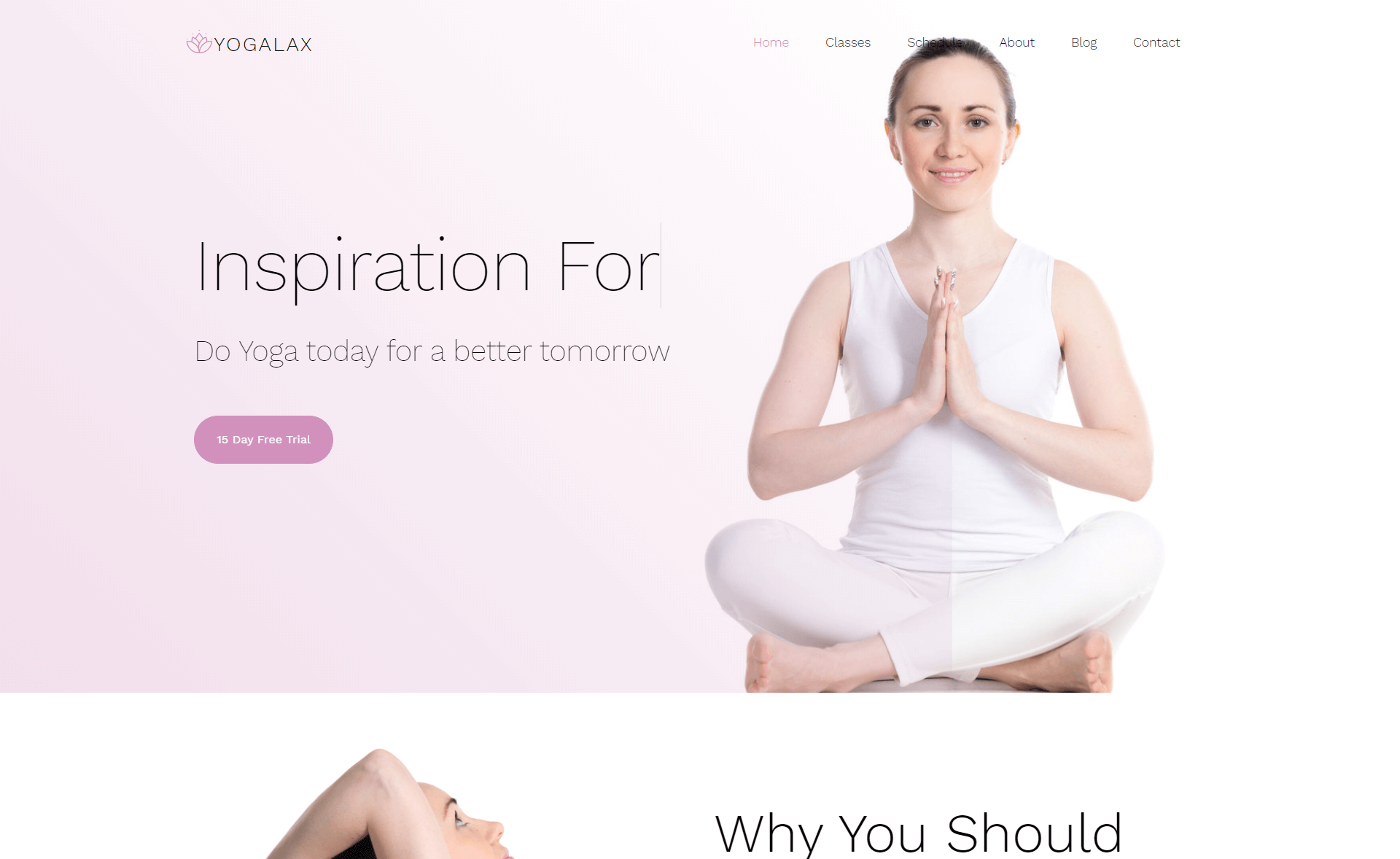 Free Responsive Bootstrap 4 HTML5 Yoga & fitness Website Template