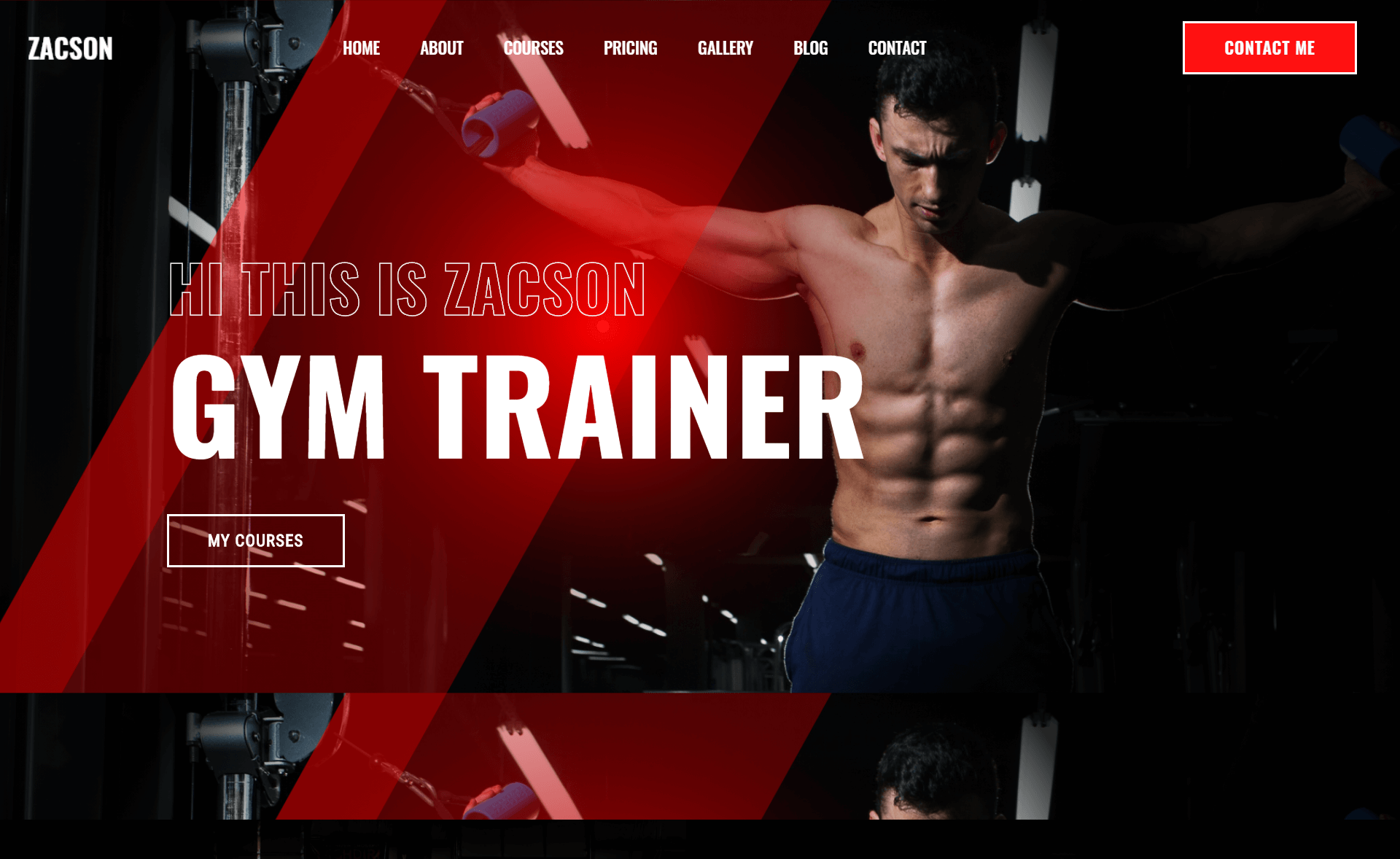 Free Responsive Bootstrap 4 HTML5 Fitness Website Template