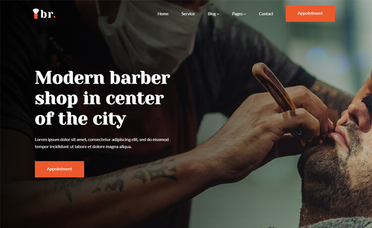 Free Bootstrap 4 HTML5 Responsive Hair Salon Website Template