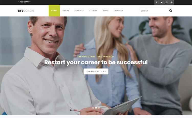 Free Bootstrap 4 HTML5 Coaching Website Template