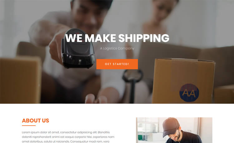 Free Bootstrap 4 HTML5 Logistics Company Website Template