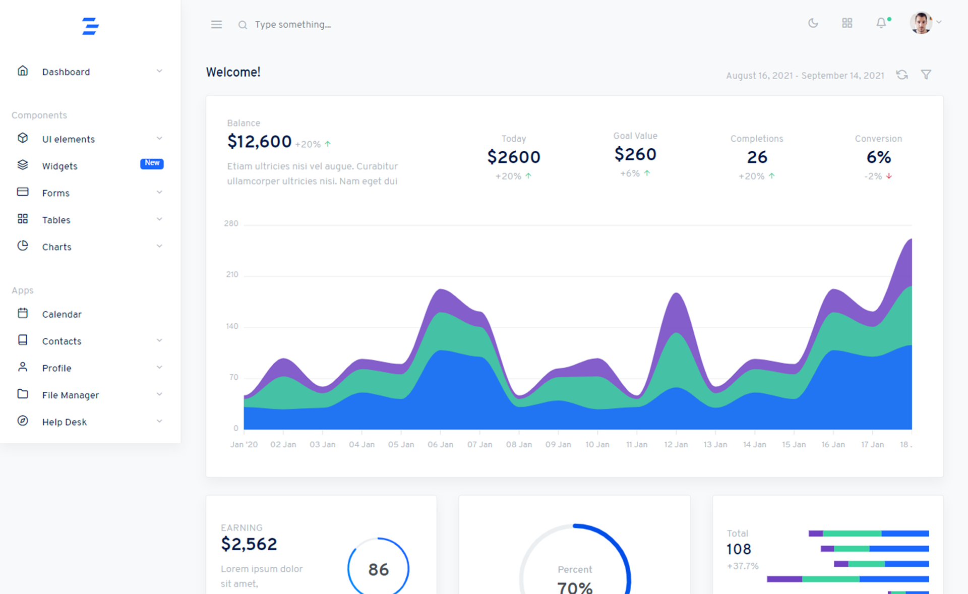 Free Responsive Bootstrap 4 HTML5 Admin Template