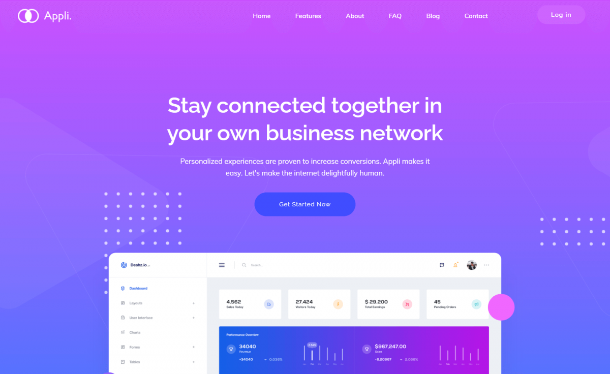Free Responsive Bootstrap 4 HTML5 App Landing Page Template