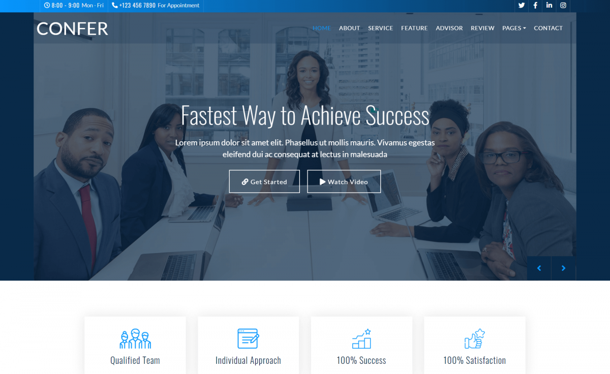 Free Responsive Bootstrap 4 HTML5 Consulting Business Websites