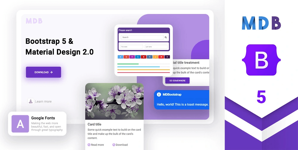 New Free Bootstrap 5 HTML5 Web UI Kit Template