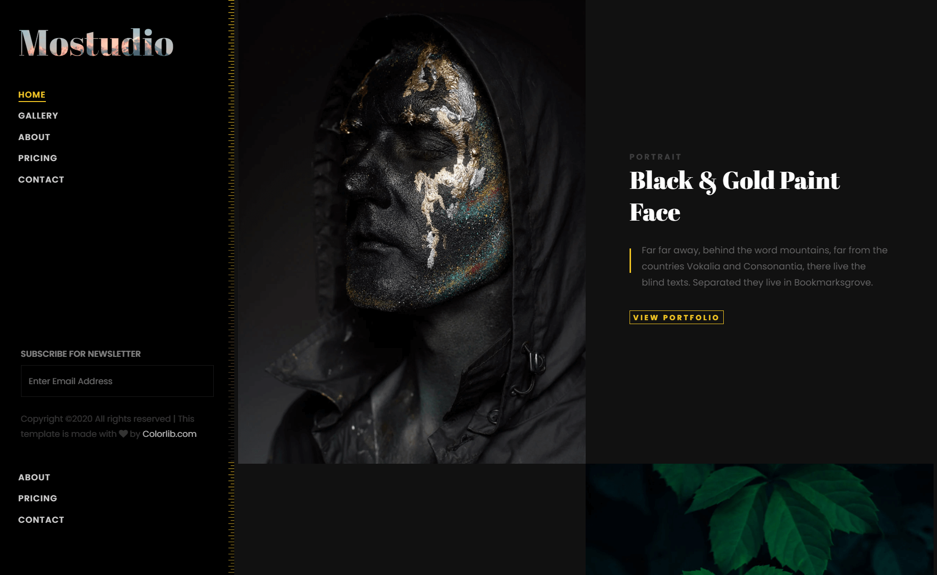 Free Bootstrap 4 HTML5 Photography Portfolio Website Template