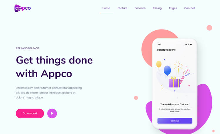 Free Bootstrap 4 HTML5 Landing Page Template