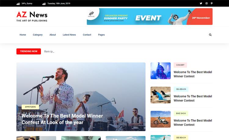 Free Bootstrap 4 HTML5 News Portal Website Template