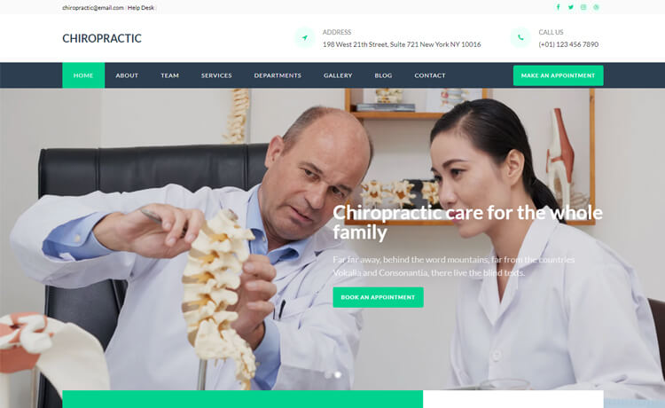 Free Responsive Bootstrap 4 HTML5 Medical Website Template