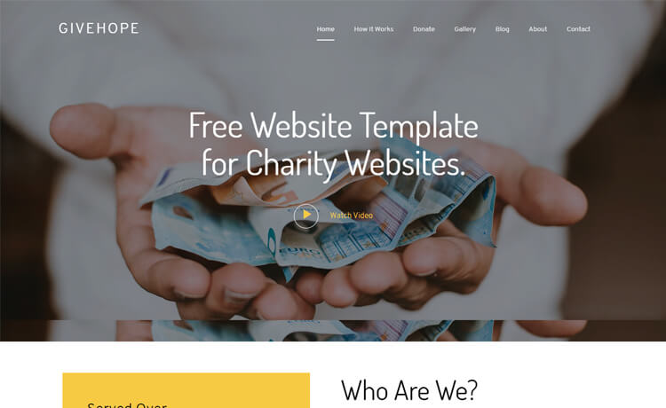 Free Bootstrap 4 HTML5 Charity Website Template
