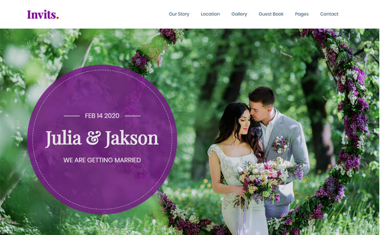 Free Responsive Bootstrap 4 HTML5 Wedding Website Template