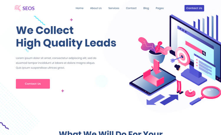 Free Bootstrap 4 HTML5 SEO Agency Website Template