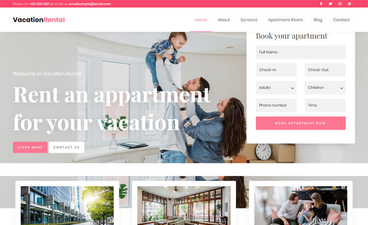 Free Bootstrap 4 HTML5 Hotel Business Website Template
