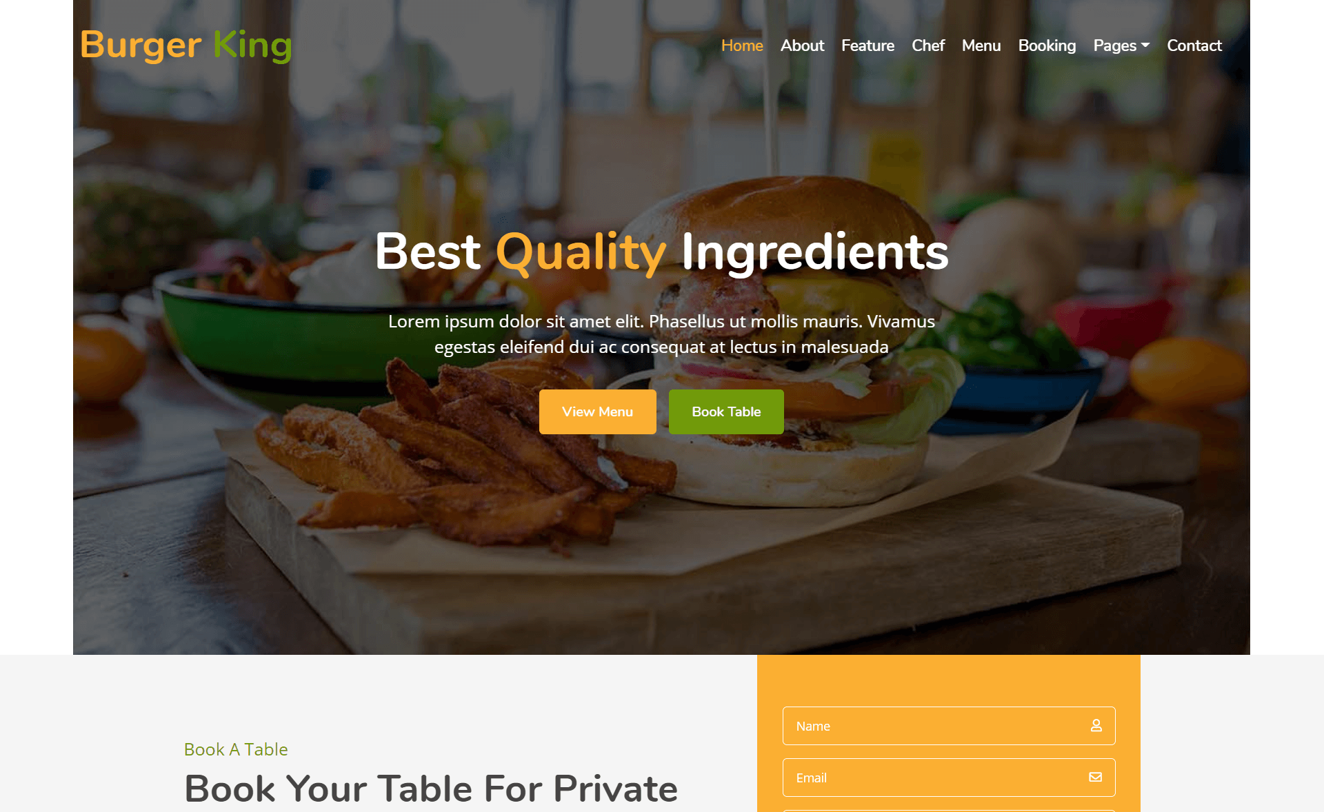 Free Responsive Bootstrap 4 HTML5 Food Business Website Template