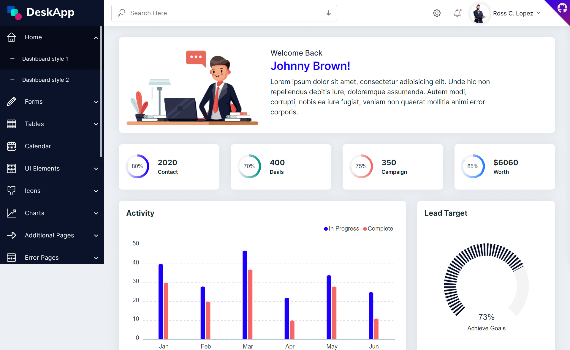 Free Responsive Bootstrap 4 HTML5 Admin Dashboard Template