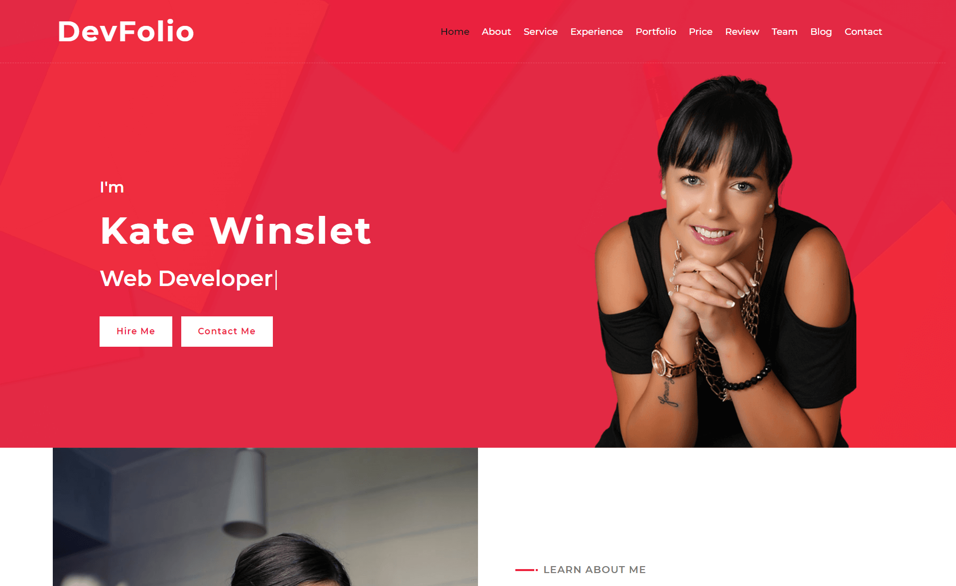 Free Bootstrap 4 HTML5 Portfolio Website Template