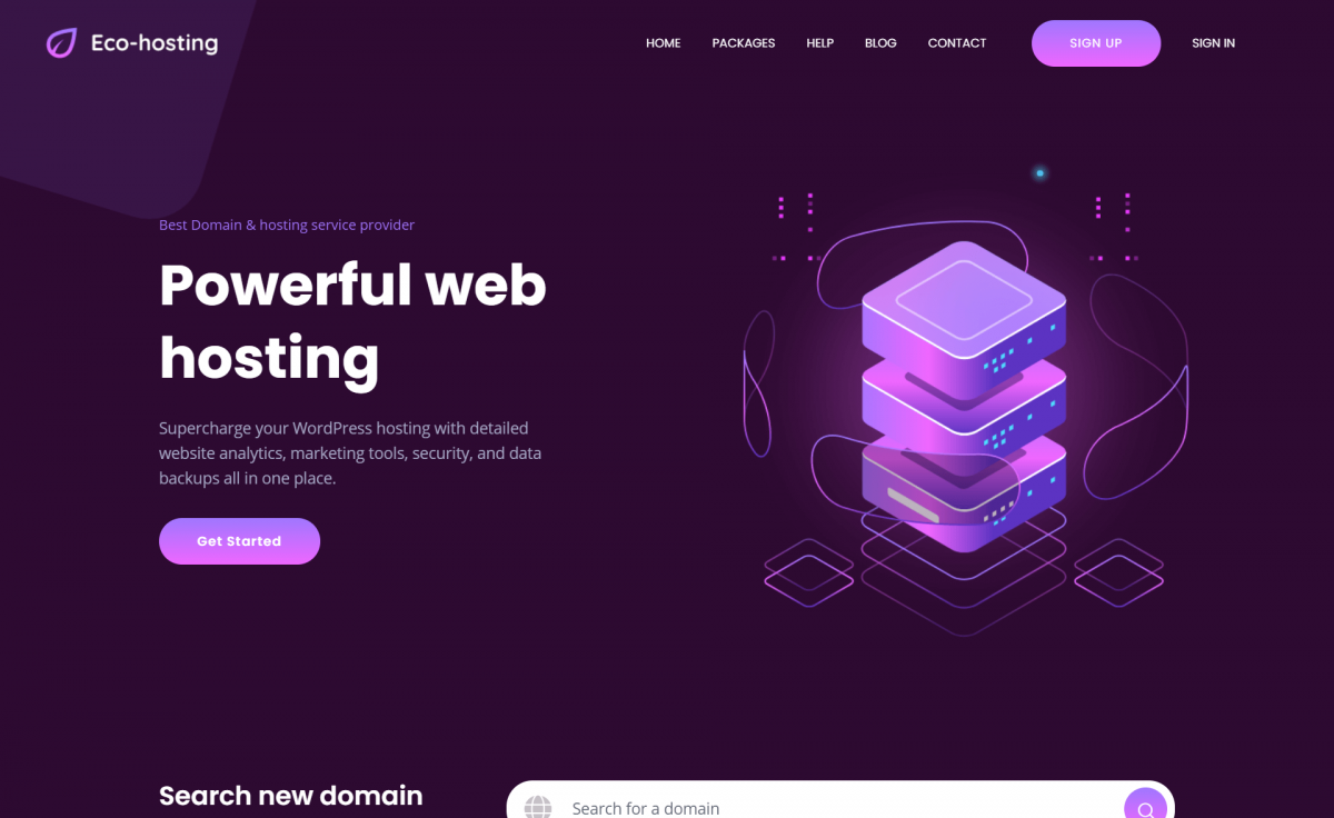 Free Responsive Bootstrap 4 HTML5 Hosting Website Template