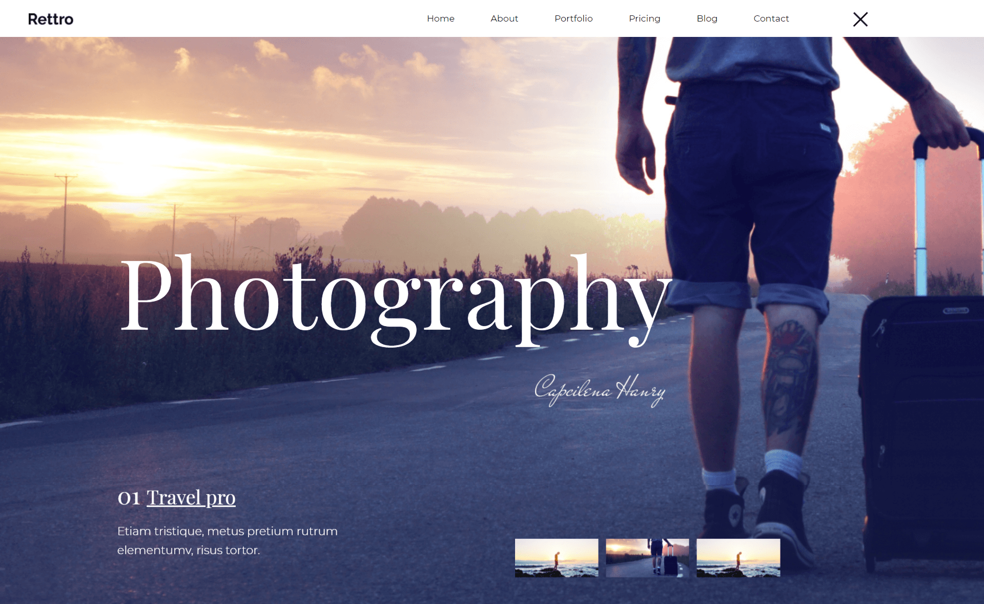 Free Responsive Bootstrap 4 HTML5 Photography Website Template