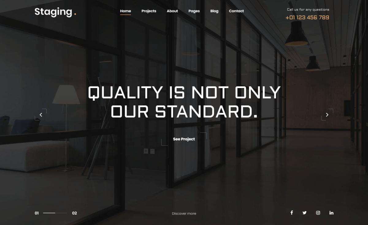 Free Responsive Bootstrap 4 HTML5 Interior Design Website Template