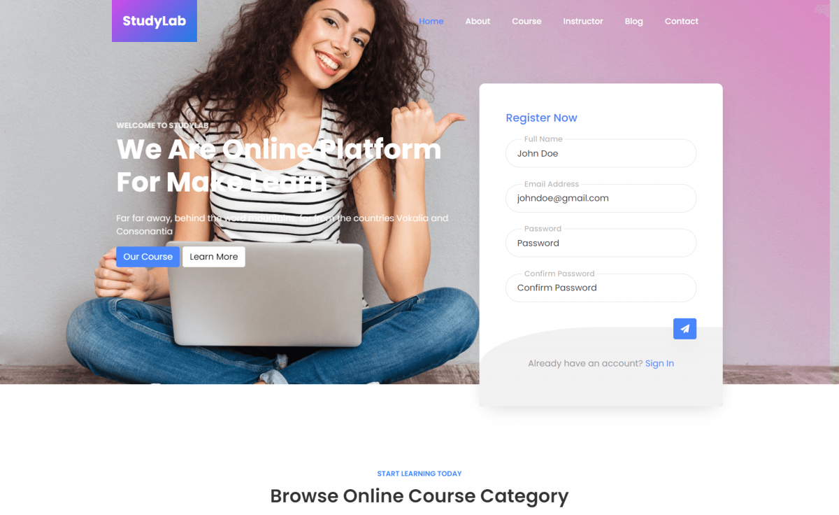 Free Responsive Bootstrap 4 HTML5 Education Website Template