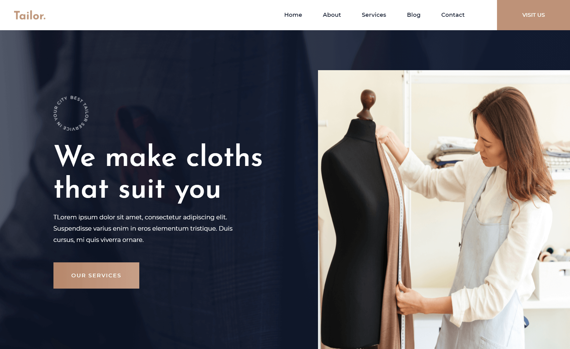 Free Responsive Bootstrap 4 HTML5 Fashion Website Template