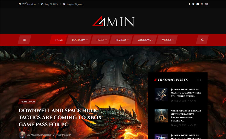 Free Bootstrap 4 HTML5 Magazine Website Template