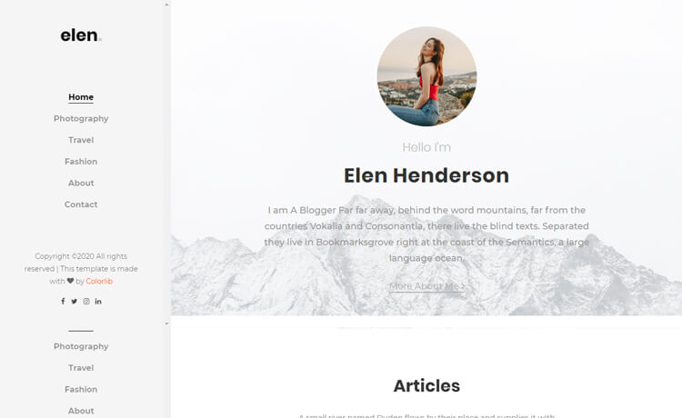 Free Bootstrap 4 HTML5 Blogger Website Template