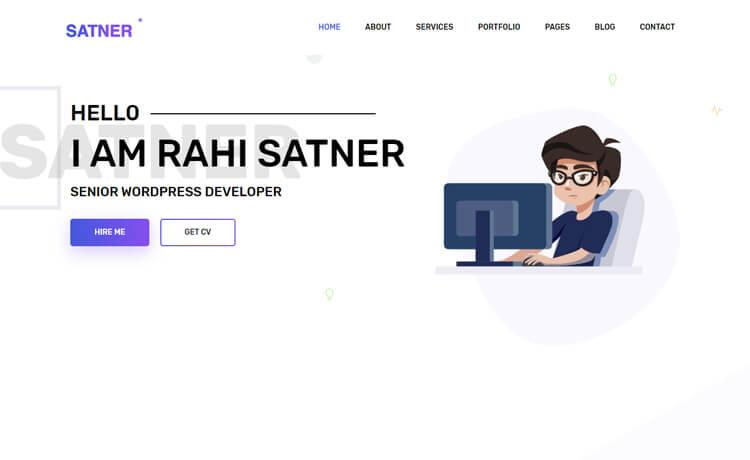 Free Bootstrap 4 HTML5 Web Developer Portfolio Website Template