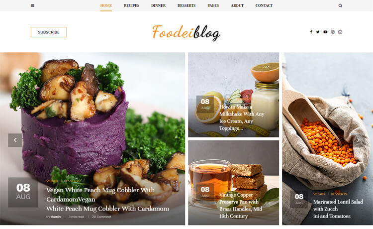 Free Bootstrap 4 HTML5 Responsive Blog Template
