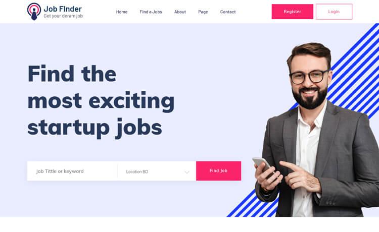 Free Bootstrap 4 HTML5 Job Portal Website Template