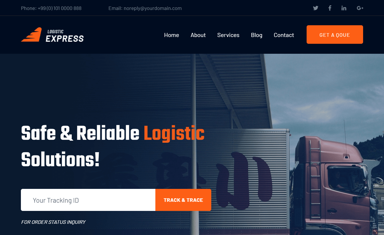 Free Bootstrap 4 HTML5 Logistic Company Website Template