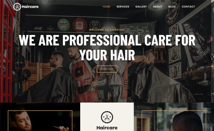 Free Bootstrap 4 HTML5 Hair Salon Website Template