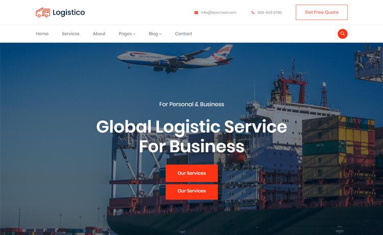 Free Bootstrap 4 HTML5 Logistics Website Template