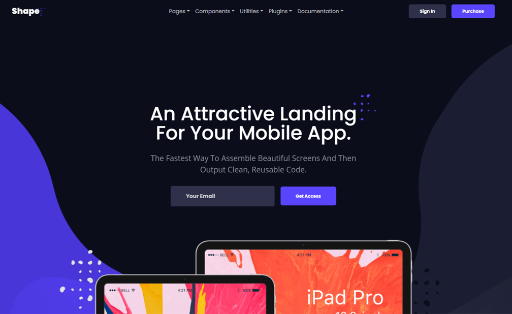 Bootstrap 4 Mobile & Web App Landing Page Template
